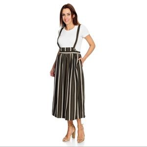 Mod X striped skirt with suspenders